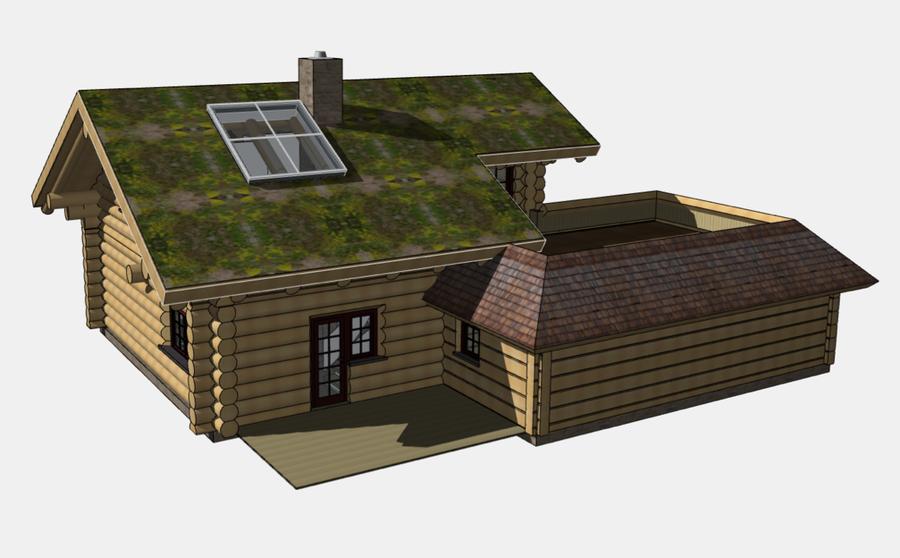 blockstammhaus aus rundstamm caribou pass mehrer blockhaus. Black Bedroom Furniture Sets. Home Design Ideas