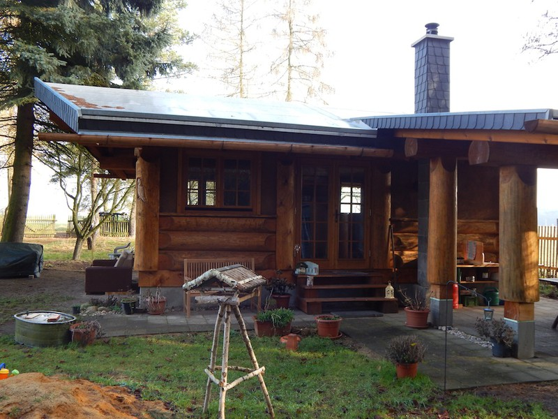 post beam blockhaus cozy cabin mehrer blockhaus. Black Bedroom Furniture Sets. Home Design Ideas
