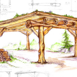 carport sicher: naturstamm unterstände bauen und planen mit ihrem, Garten und Bauen